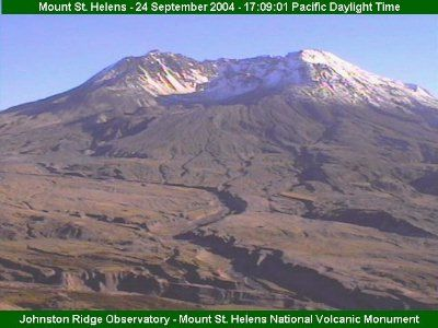 In my younger years I climbed to the top right in the middle  Mt. St. Helens