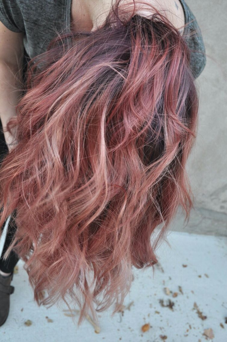 Rose gold hair color pinners favorites of hair by for Natural rose colors