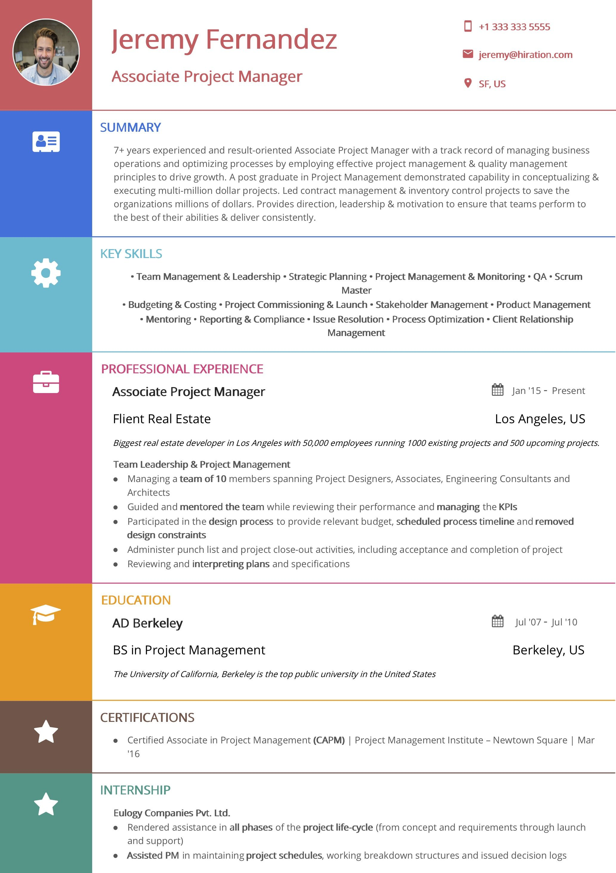 Resume template professional image by Hiration on https
