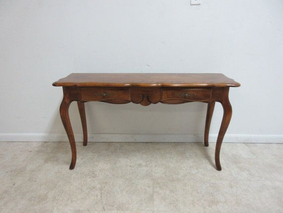 Ethan Allen Country French Carved Sofa Hall Foyer Console Serving Table A Carved Sofa French Country Serving Table