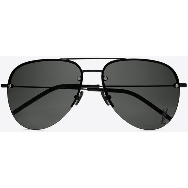 4a2cad1a59a Saint Laurent Monogram M11 Sunglasses ($330) ❤ liked on Polyvore featuring  accessories, eyewear, sunglasses, monogrammed glasses, double bridge  sunglasses, ...