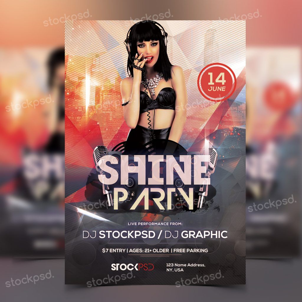 Download Shine Party Photoshop Flyer Template From Httpwww