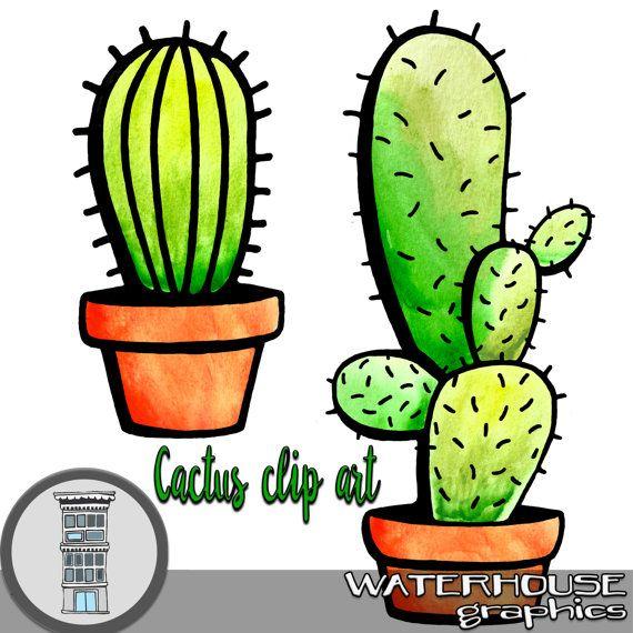 Digital Cacti Clipart Watercolor And Black Transparent Pngs Etsy Cactus Clipart Clip Art Cactus Clip Art