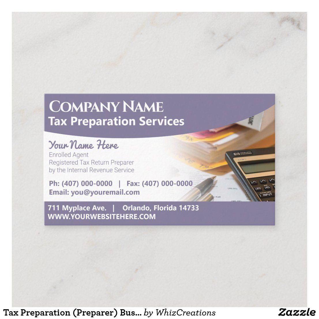 Tax Preparation Preparer Business Card Zazzle Com Tax Preparation Tax Preparation Services Tax Prep