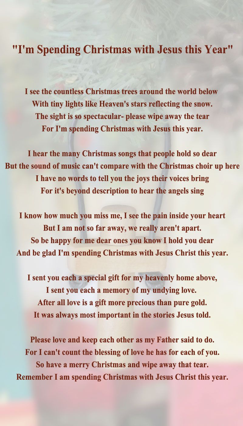 Jesus On the Cross Poems | ... Missing You At Christmas Memorial ...