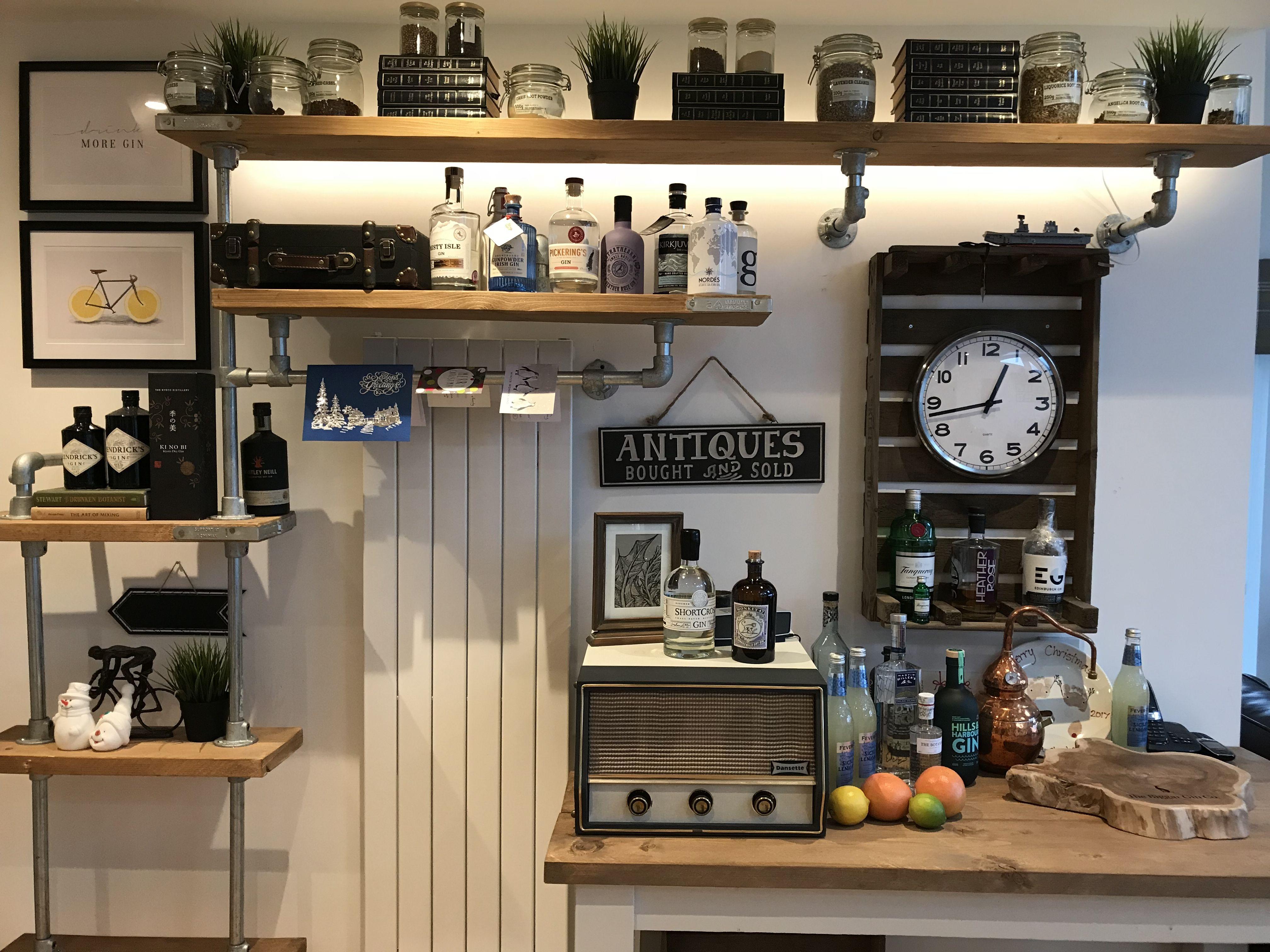 Home Diy Gin Bar Scottish Gin Scaffold Shelf Gin Shelfie