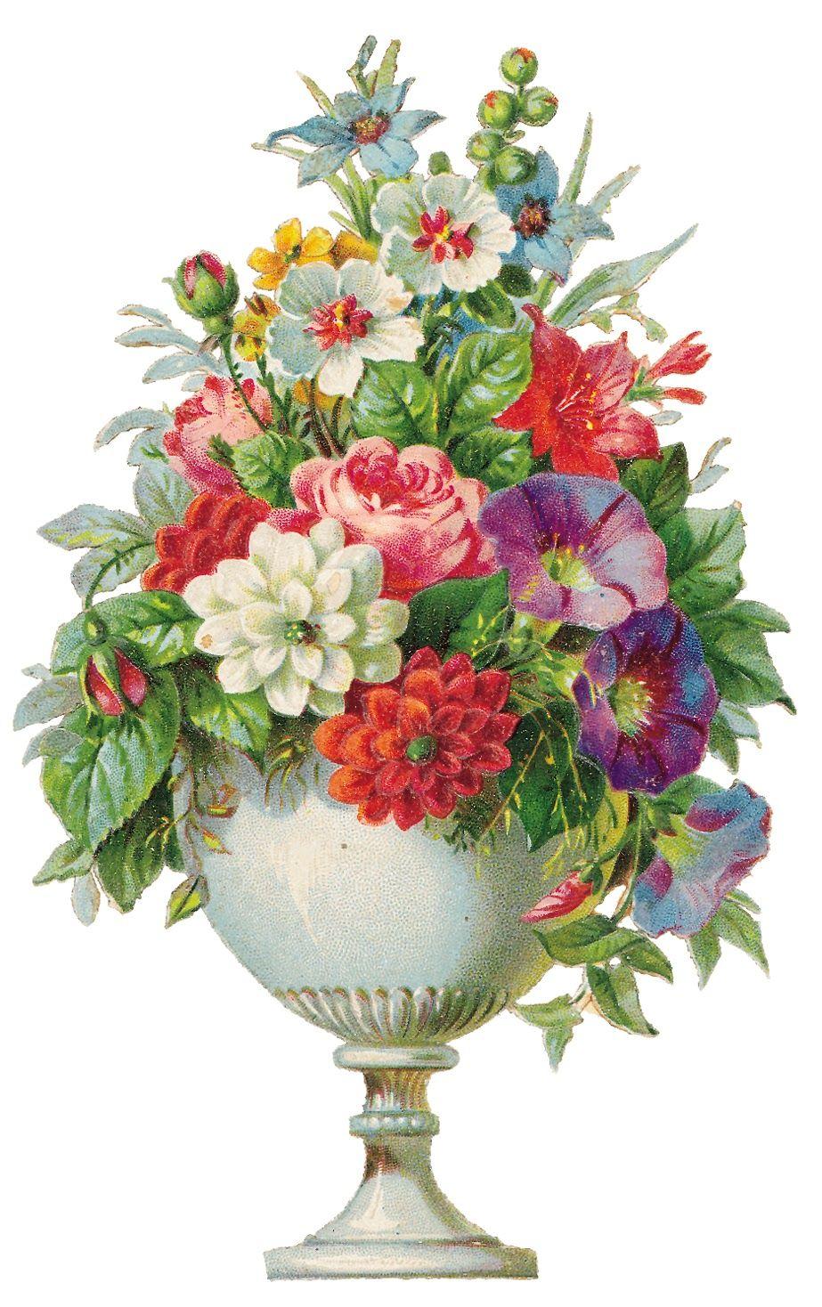 Vintage Flowers Clip Art Borders Vintagefeedsacks