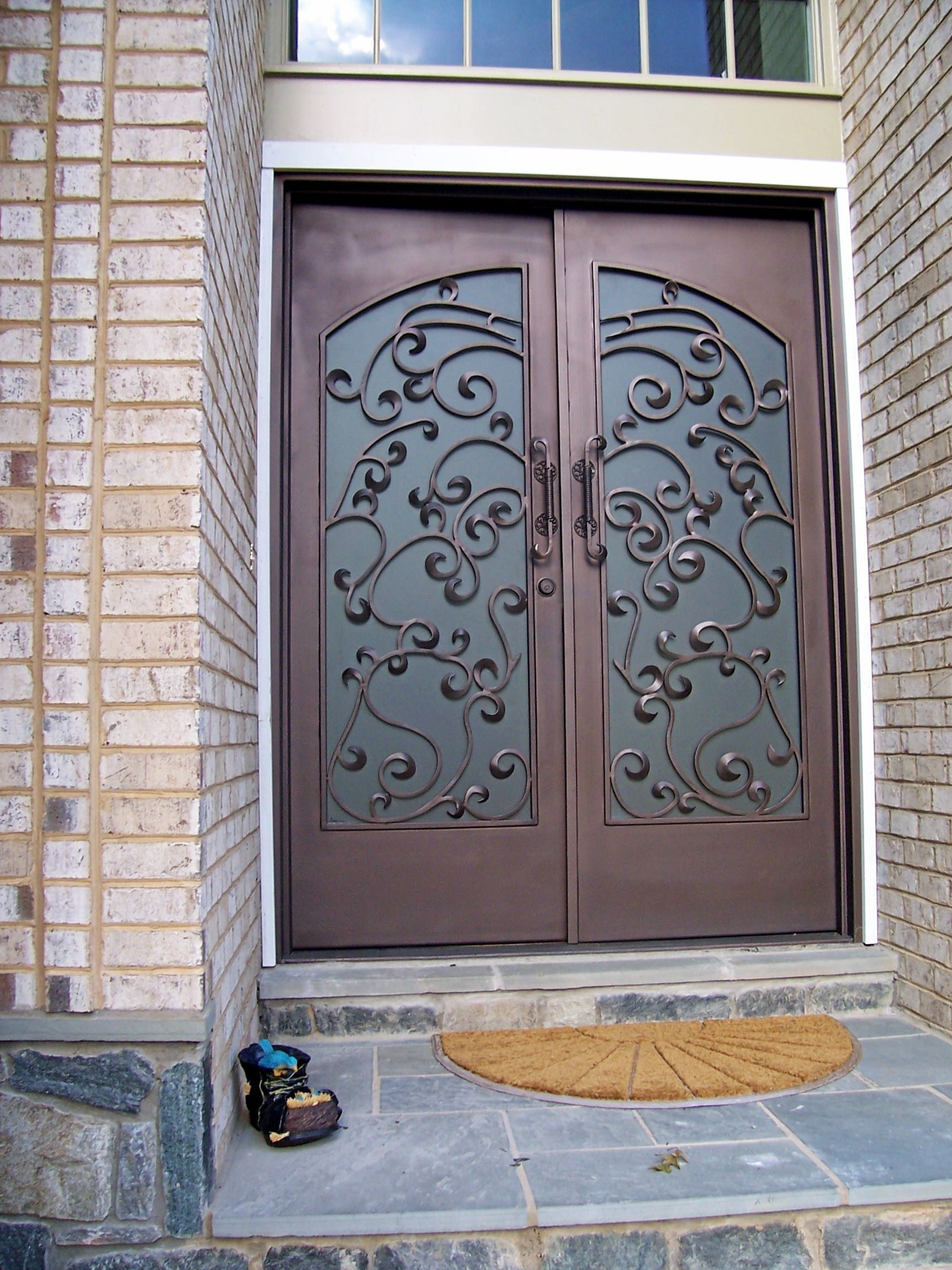 custom dcs iron garden by security storm gate wrought metal doors for industries popular built