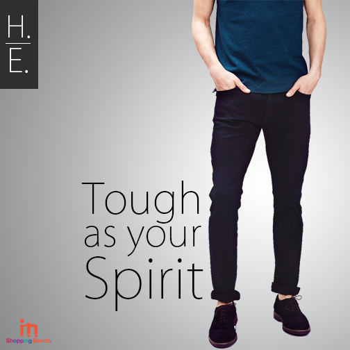 The Valuable jeans of H.E Brand Pantsuit, Blue jeans