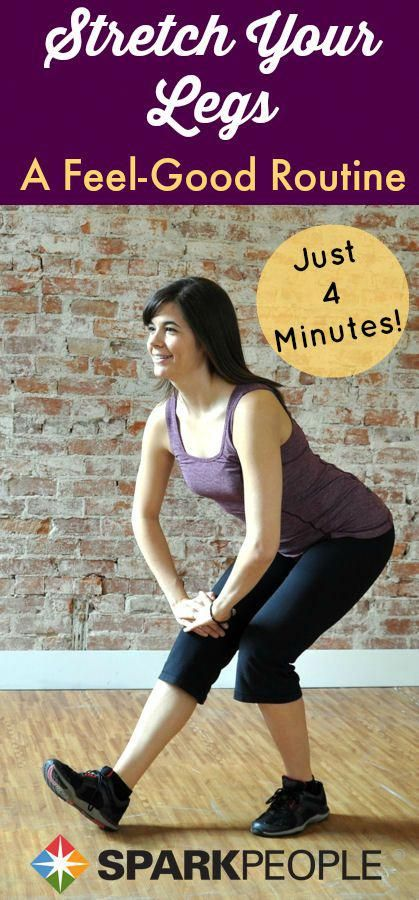 Stretch out your entire lower body in 4 minutes with this video! | via @SparkPeople #fitness #stretc...