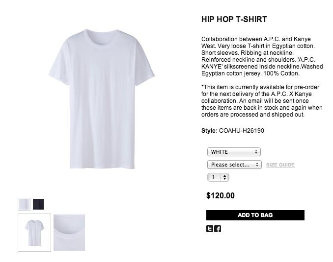 Kanye West Selling Plain White T Shirts For 120 Plain White T Shirt Kanye West Funny Fashion