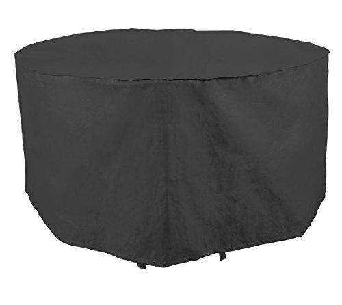 Bosmere Q340 Simply Cover Blackberry Black 4 Seater Circular Table Cover Garden Furniture Covers Furniture Covers Garden Furniture