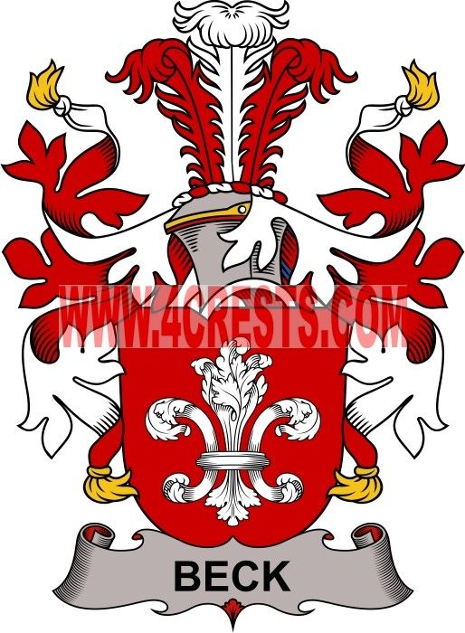 Beck Coat Of Arms Family Crest Denmark By Name Symbol Family