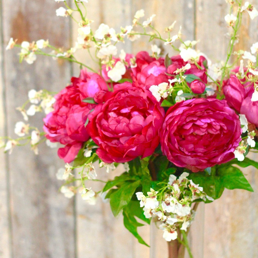 Fuchsia classic peony peonies please pinterest peonies our vibrant silk fuchsia pink peonies make a perfect bridal bouquet the most realistic and lifelike faux flowers great for a summer wedding that the bride mightylinksfo