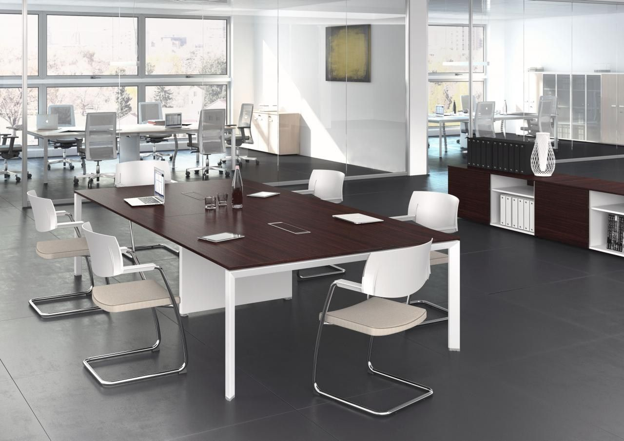 Lm mobili ~ Rectangular wooden meeting table th element by las mobili wall