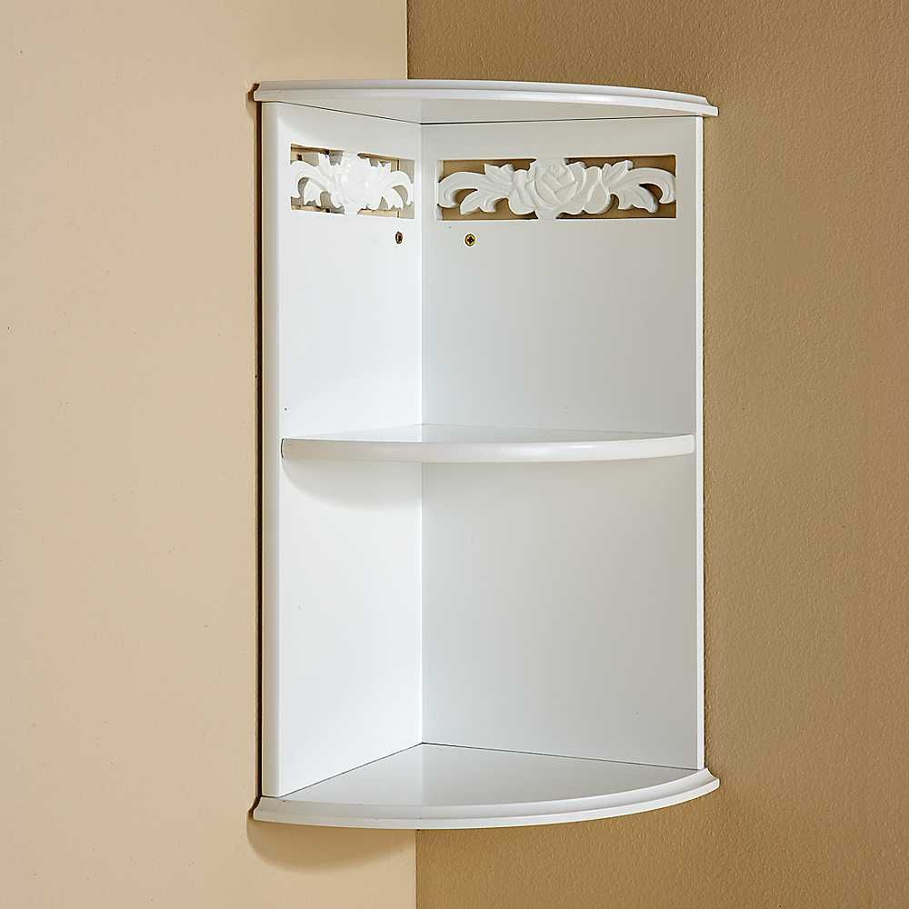 Ugaona Polica Bathroom Corner Storage Glass Corner Shelves Wall Mounted Shelves