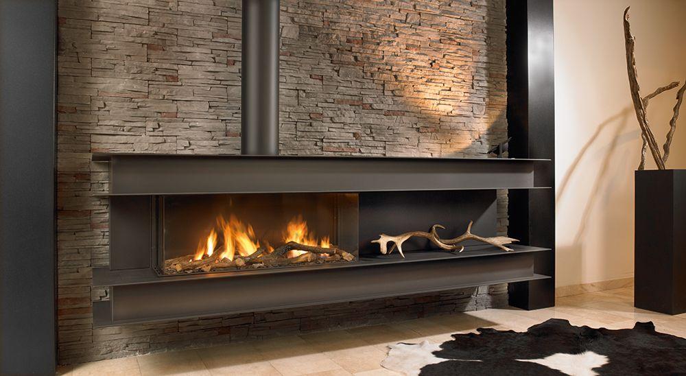 chemin e suspendue au gaz ou au bois. Black Bedroom Furniture Sets. Home Design Ideas