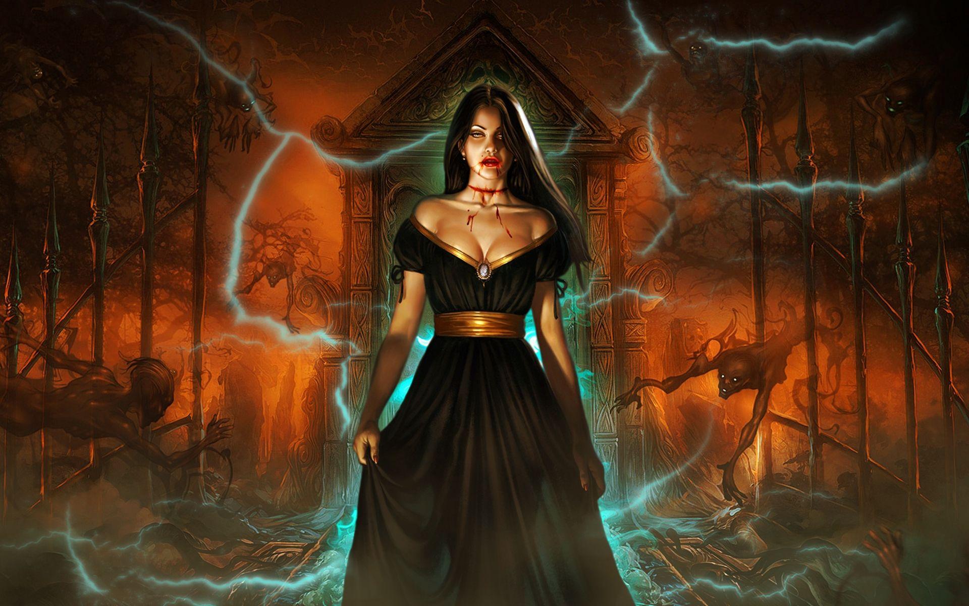 evil females vampires queen dark horror women fantasy