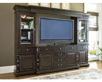 Paula Deen Entertainment Wall Unit Tobacco Finish Is A Part Of Paula Deen  Furniture Collection. Available At Knight Furniture Showrooms In Florence,  SC.
