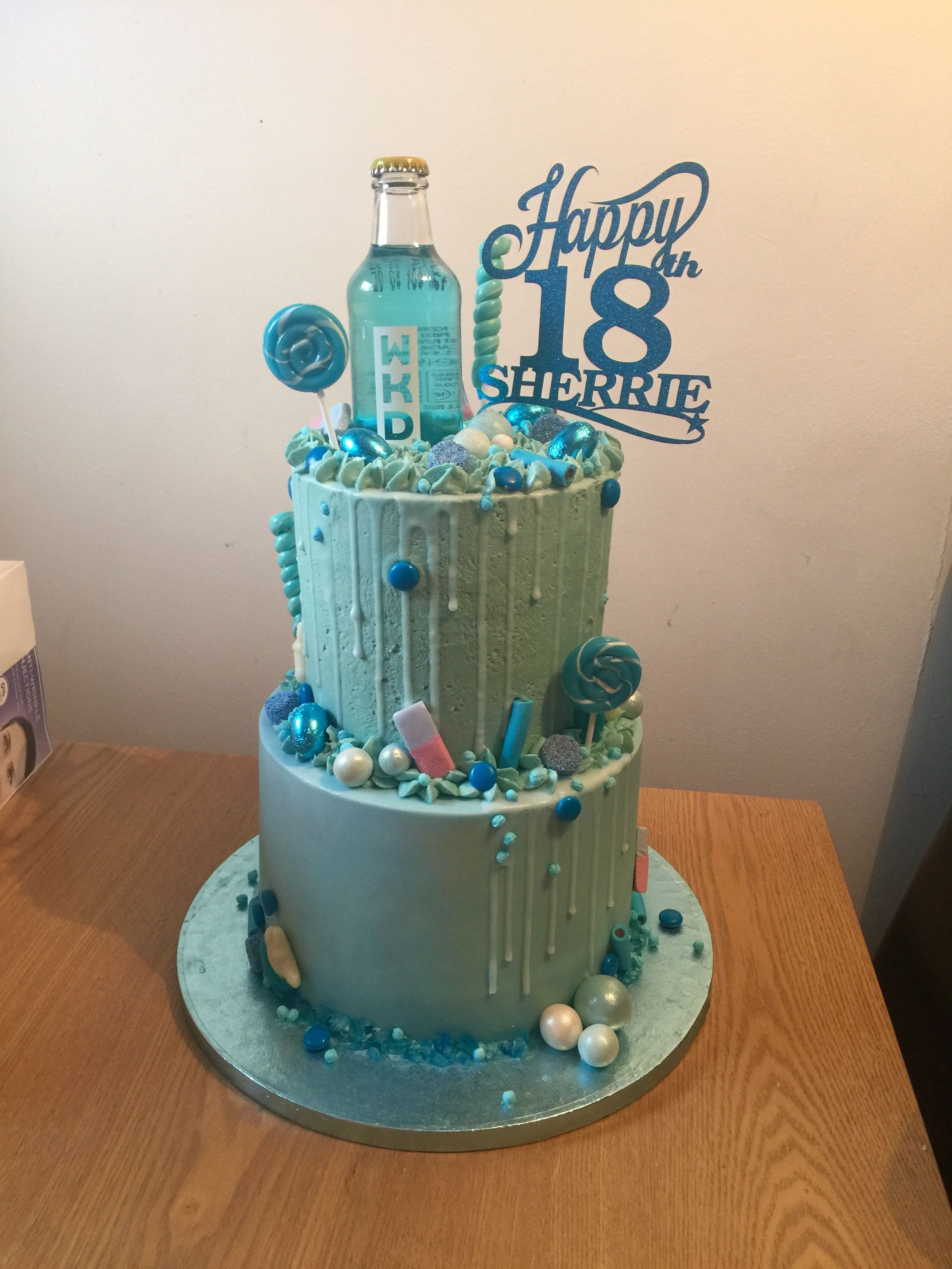 Wkd Blue Cake Blue Birthday Cakes 18th Birthday Cake 30