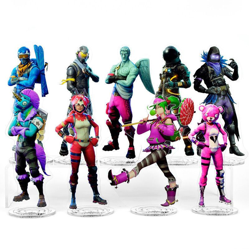 8 27in Fortnite Standing Figure Pink Bear Zoey Voyager Raven Acrylic