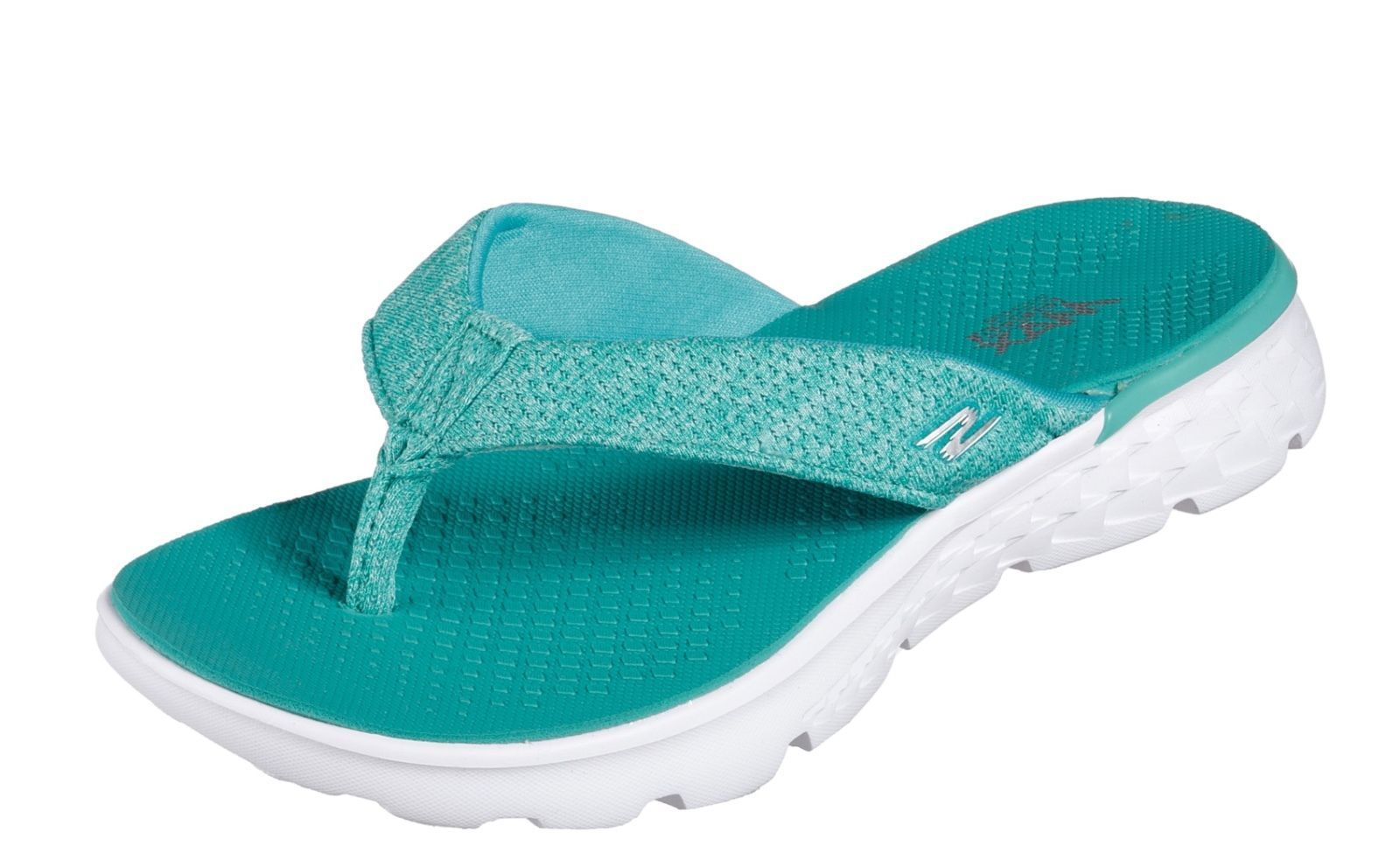 b2c3eb49956d Skechers NEW On The Go 400 Vivacity teal blue womens comfort flip flops  size 3-