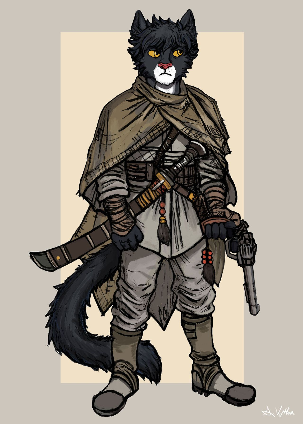 Khajiit Officer by TheLivingShadow | Steampunk animals, Skyrim art,  Character art