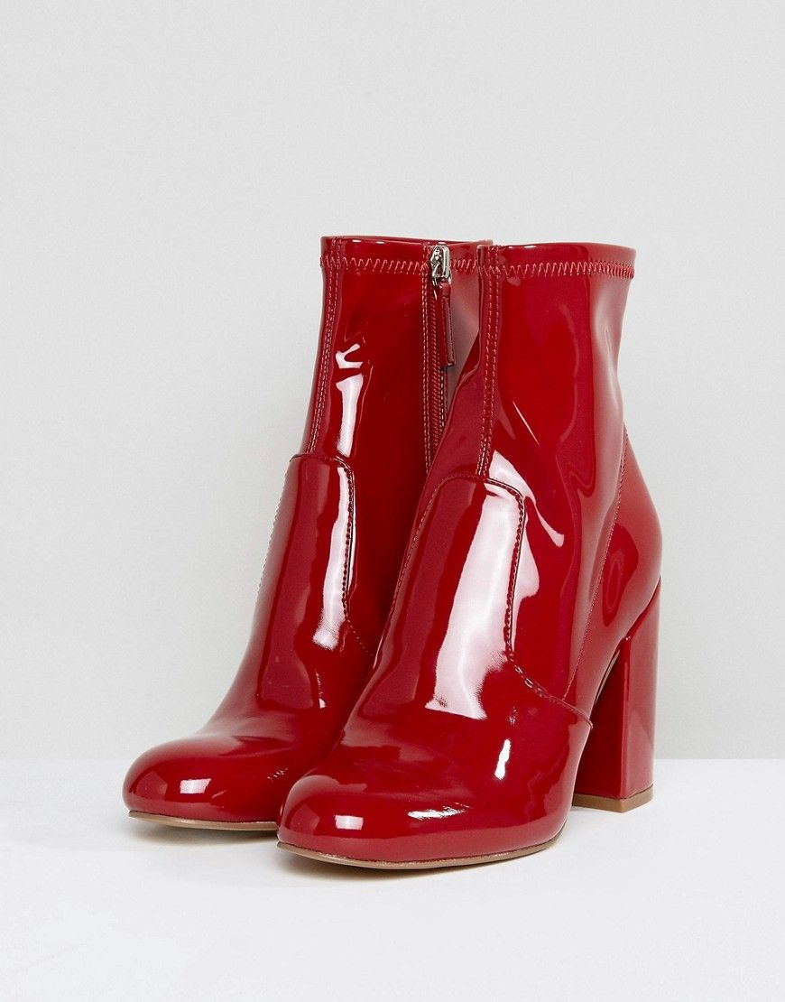 f2e03479039 Steve Madden Gaze Ankle Boots - Red | Products | Shoe boots, Boots ...