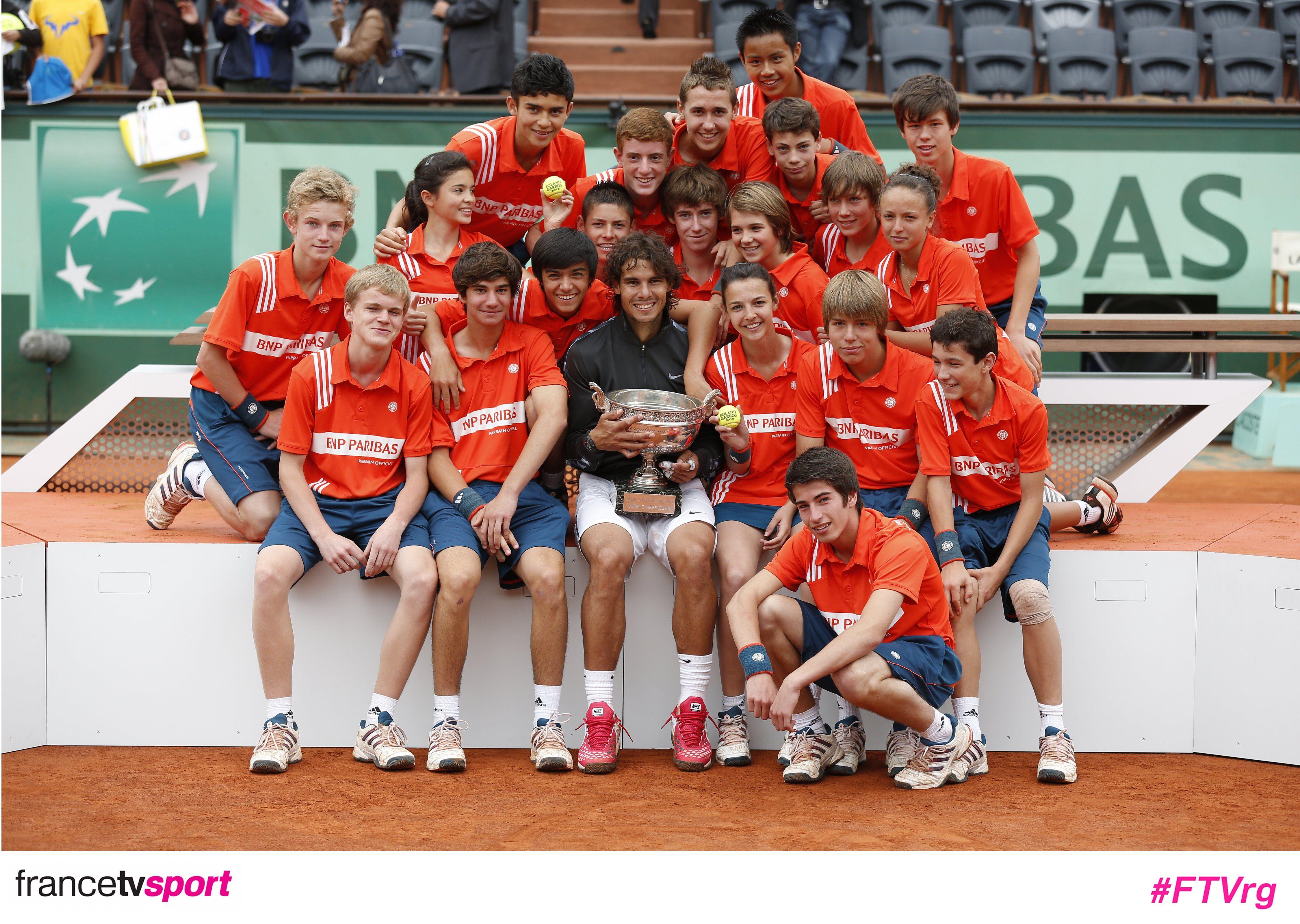 Ramasseurs heureux. Roland garros, Sport, Tennis