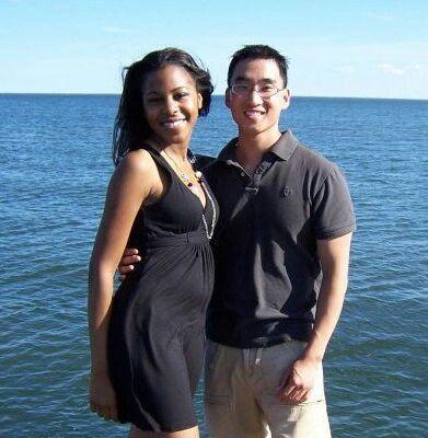 Beautiful couples Blasian interracial photography