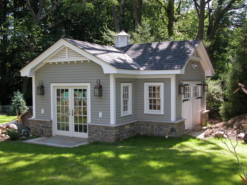 Gable Vents Garage And Shed Traditional With Cross Gable Roof Cupola French Doors Grass Tiny Cottage Design Backyard Sheds Cottage Design