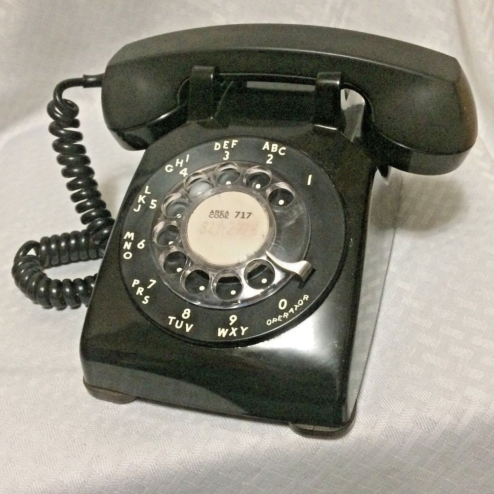 Black Rotary Desk Phone Model 500 Western Bell Systems Untested Needs Parts