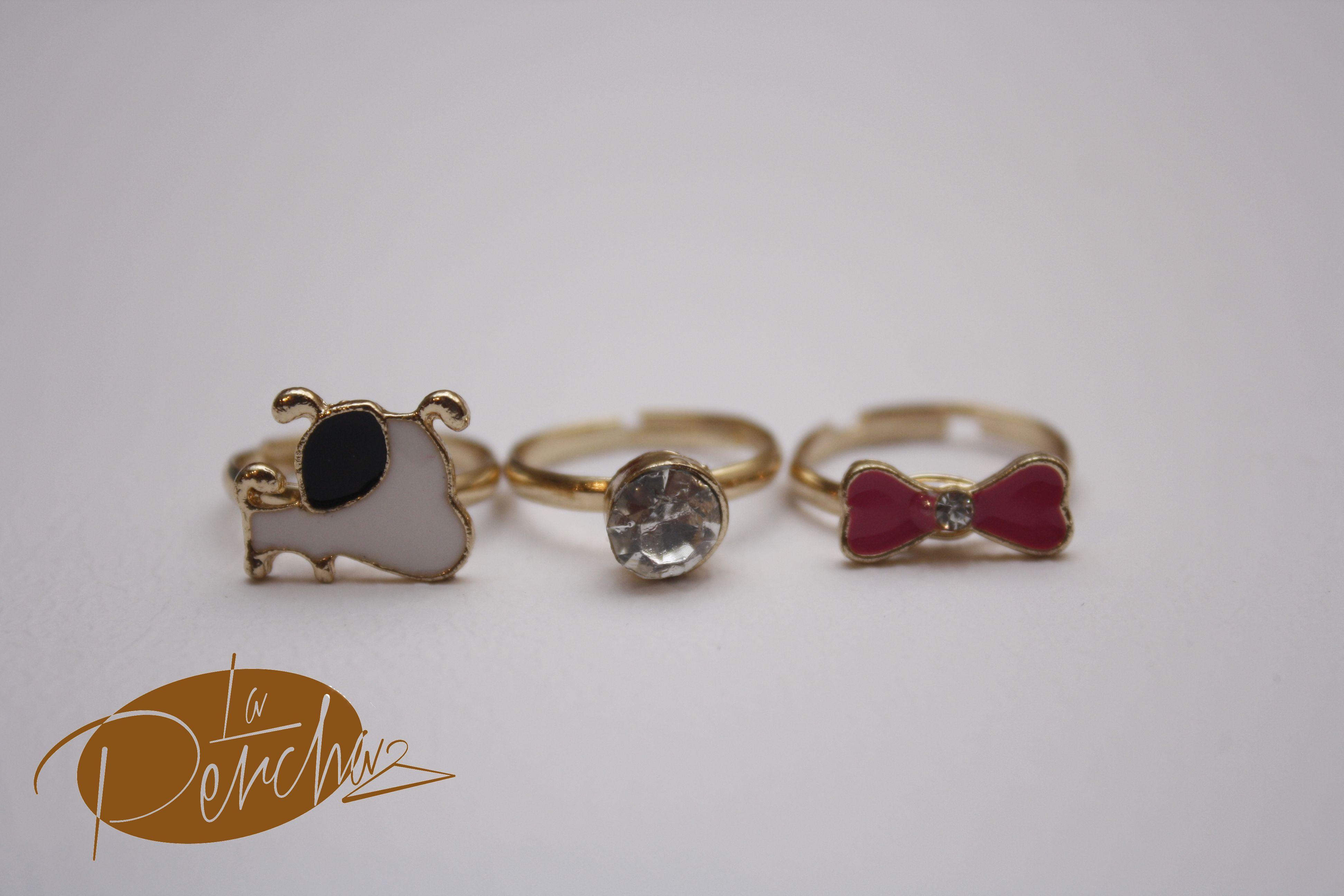 La Percha Anillo Ring Layered Bows Perro Dog Accesorios de Mujer Fashion Moda Bisuería Jewelry
