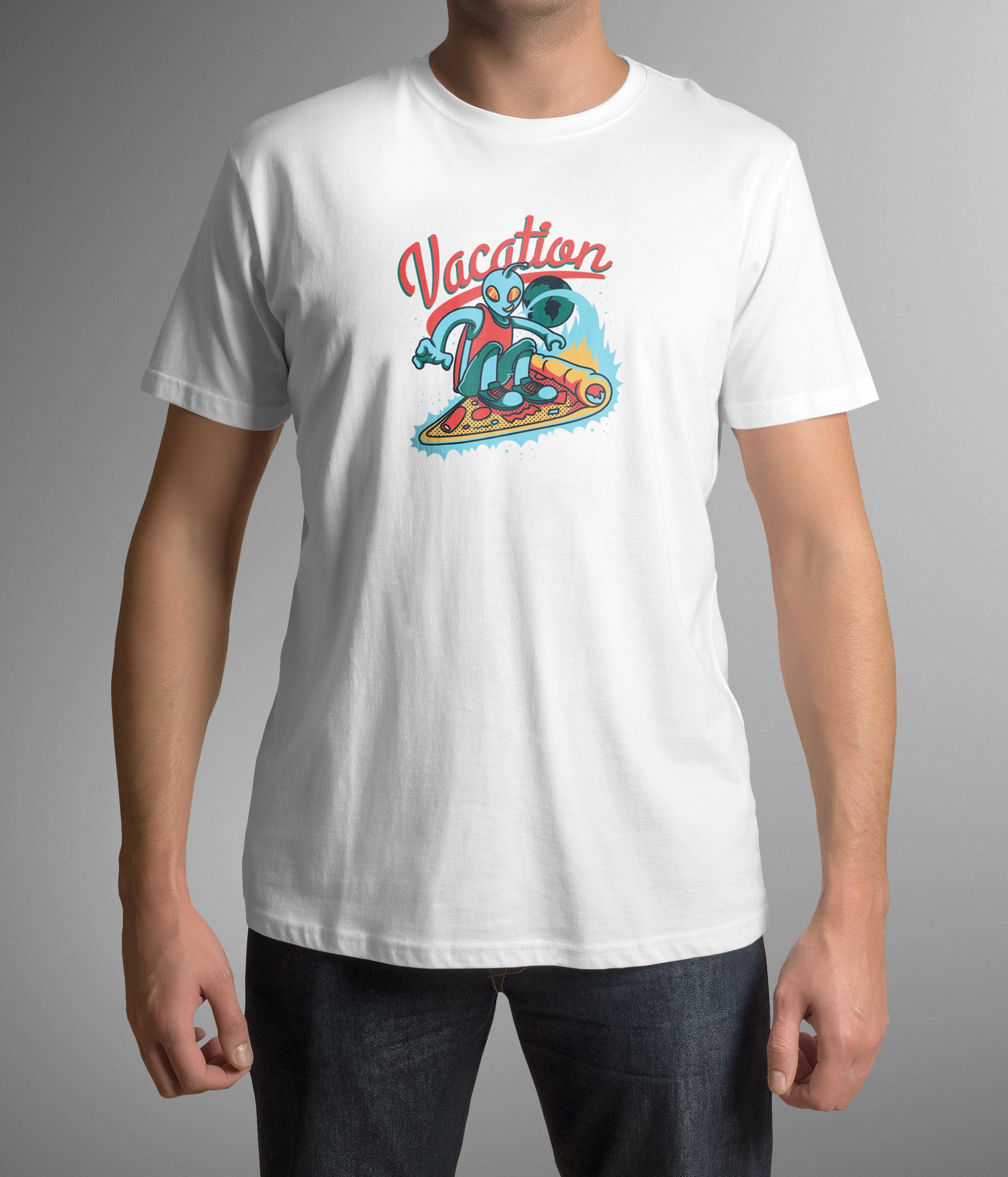 Unisex graphic tshirt alien vacation Etsy in 2020