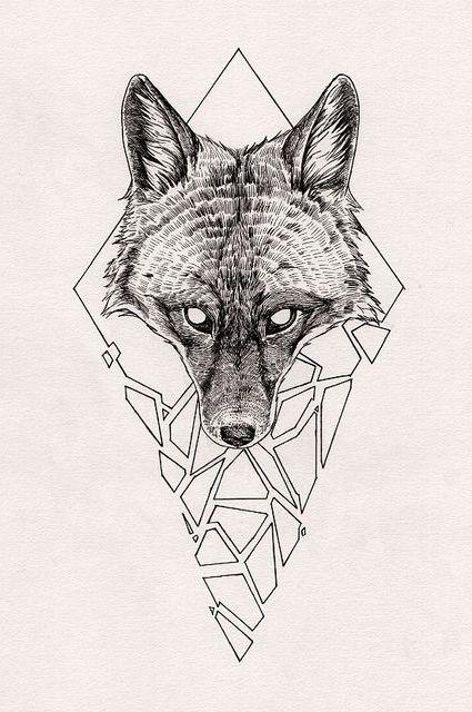 wolf head tattoo sketch art pinterest head tattoos. Black Bedroom Furniture Sets. Home Design Ideas