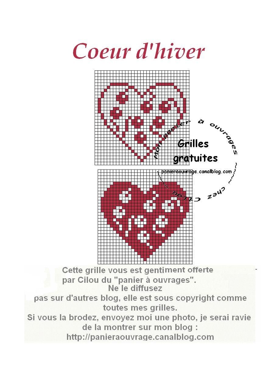 coeur hiver | Biscornus y Costureros | Pinterest | Punto de cruz ...