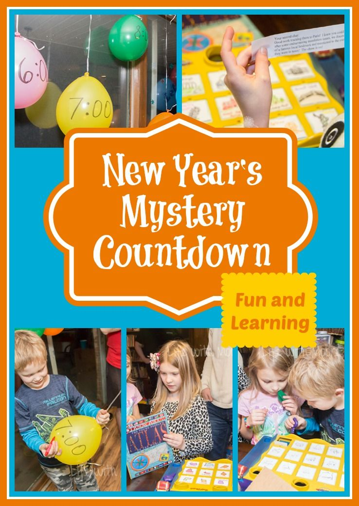 Solve this Mystery Countdown to Celebrate New Years Eve