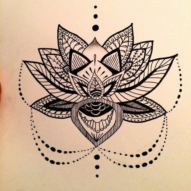 how to make lotus flower drawings