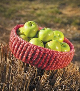 Chunky basket--crochet, with instructions