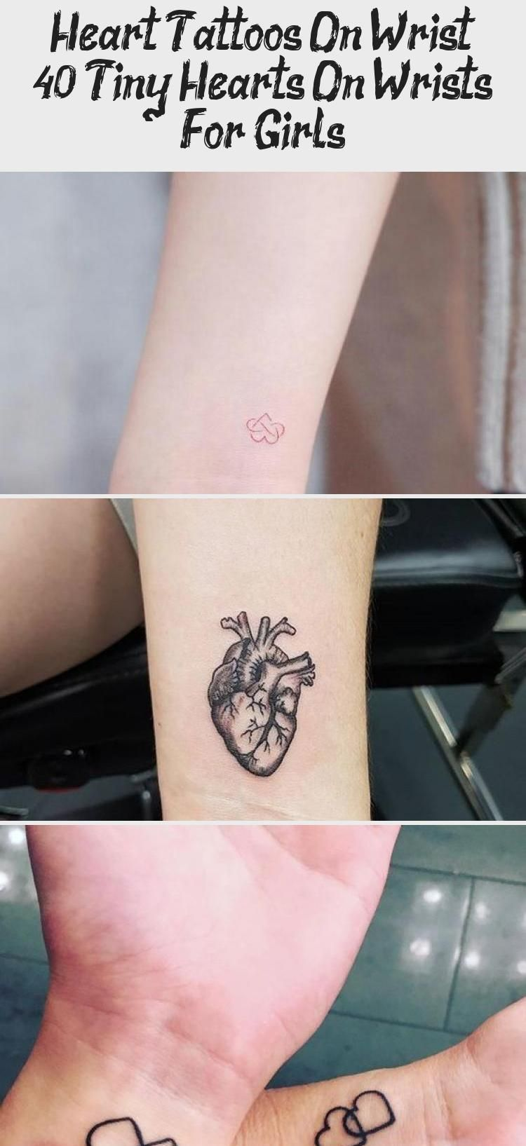 Dotted Small Heart Tattoo On a Wrist hearttattooDesing