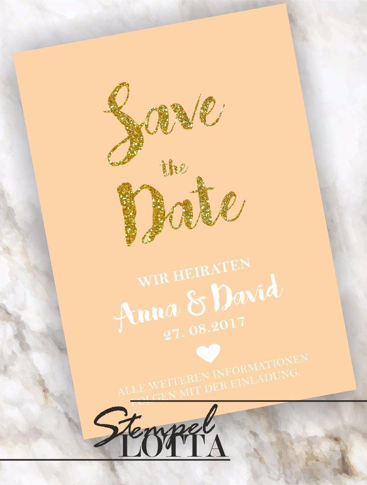 Details zu Save the Date INDIVIDUELL Hochzeit Einladung