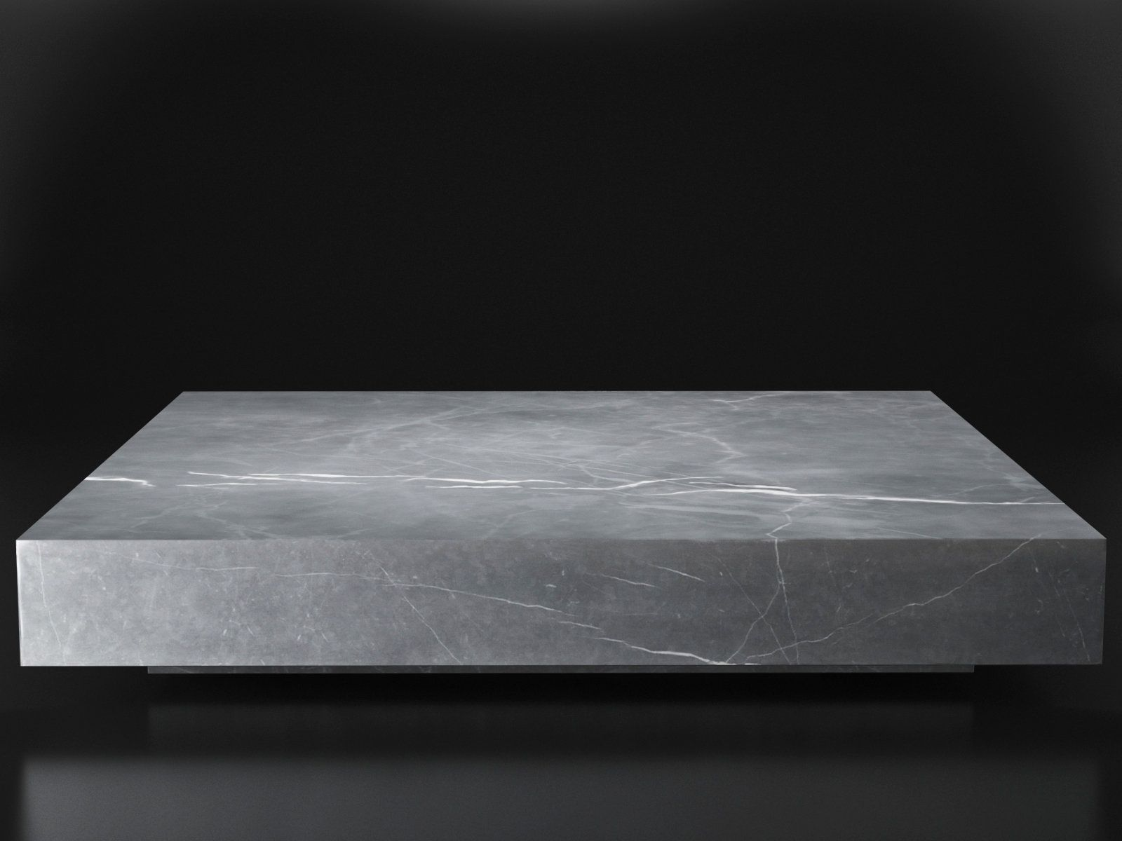 Low Marble Plinth Square Coffee Table 3d Model By Design Connected