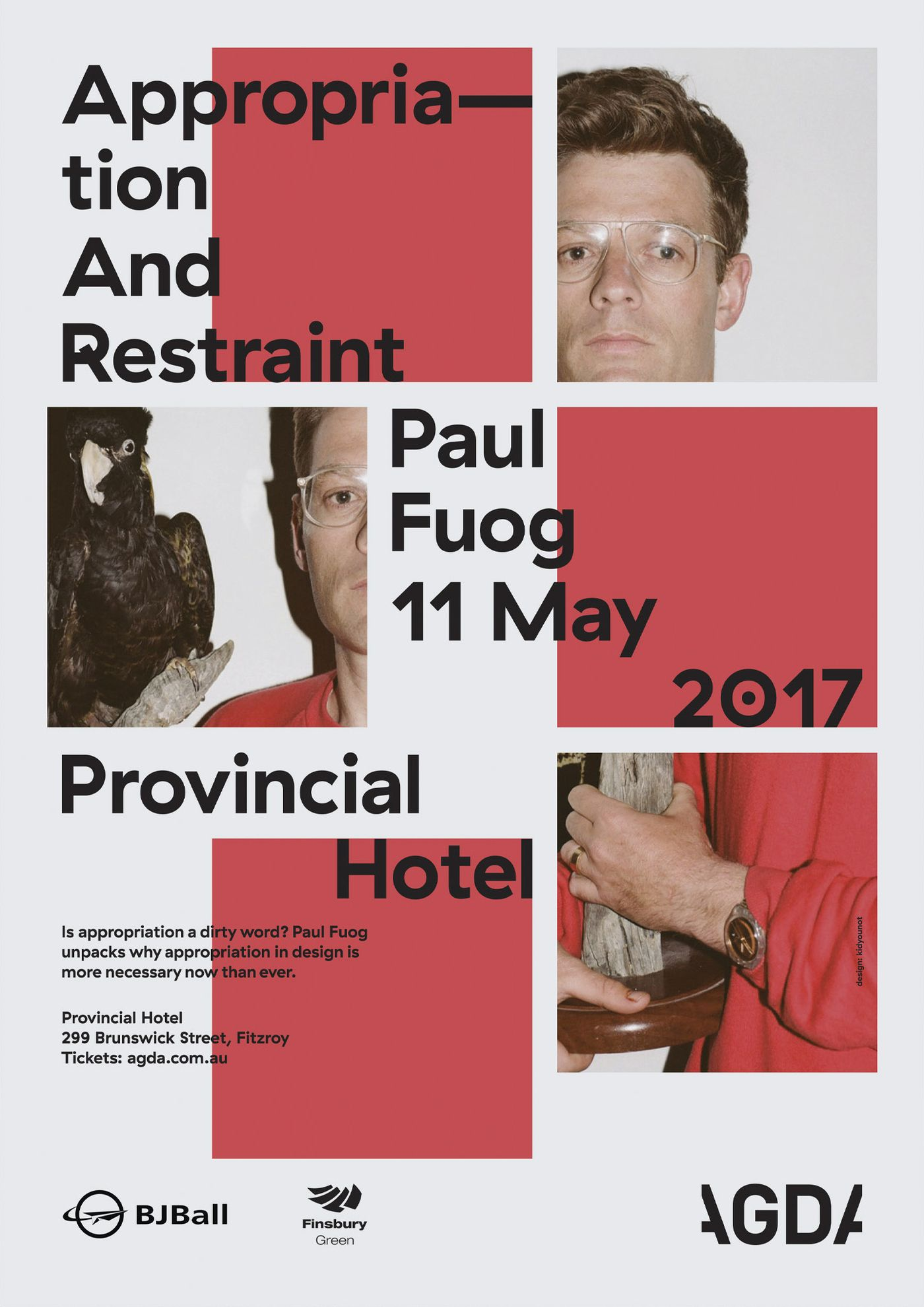 """Appropriation And Restraint"" lecture poster"