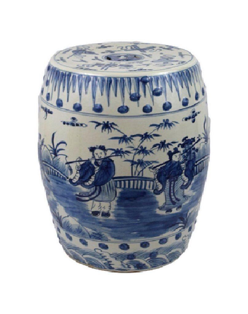 Inspirational Ceramic Garden Stool White