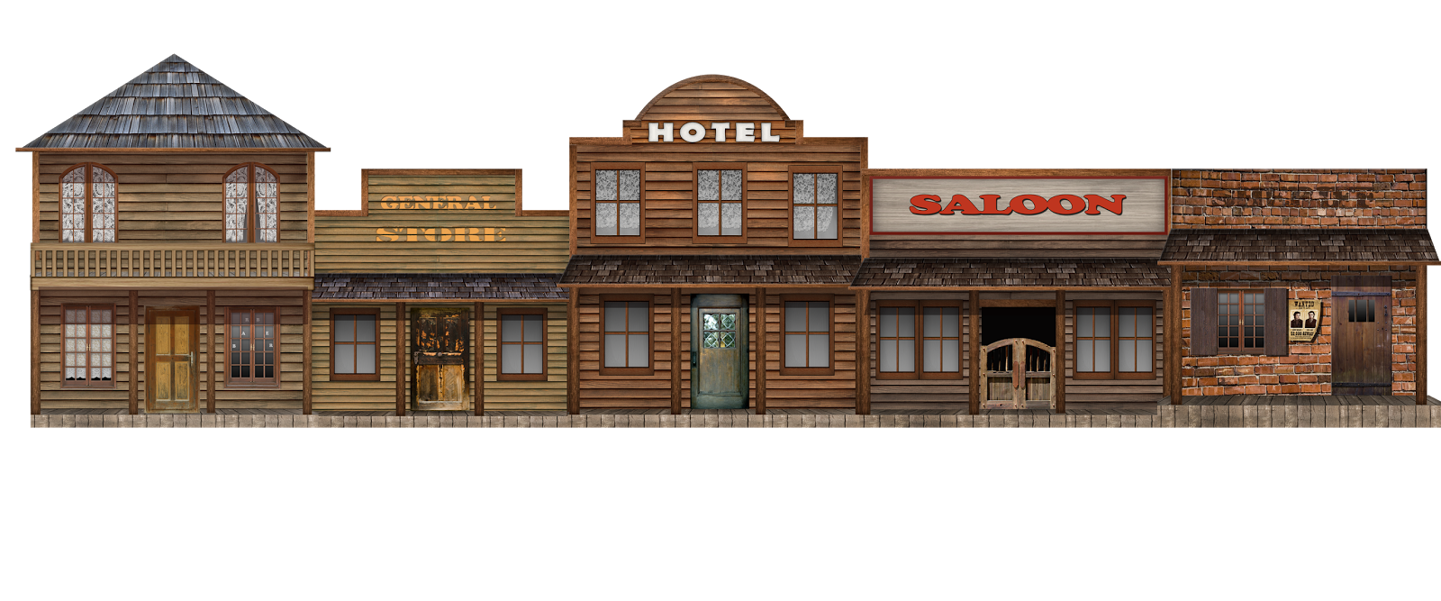 Old West Town Clipart
