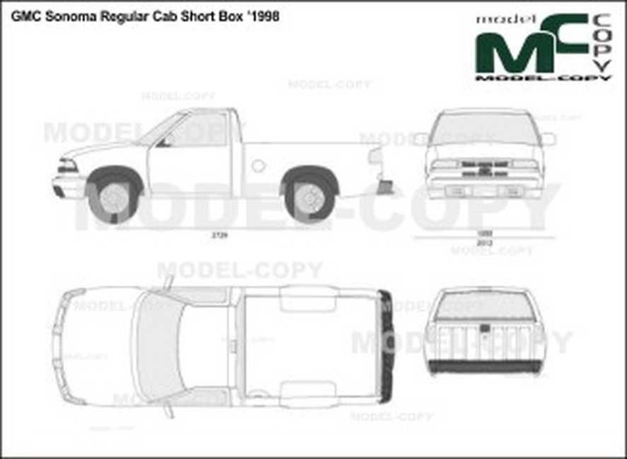 Gmc Sonoma Regular Cab Short Box 1998 Disegno Model Copy Boxe Disegni Cabo