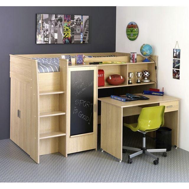 jacko lit mezzanine lit mezzanine mezzanine and bureaus. Black Bedroom Furniture Sets. Home Design Ideas
