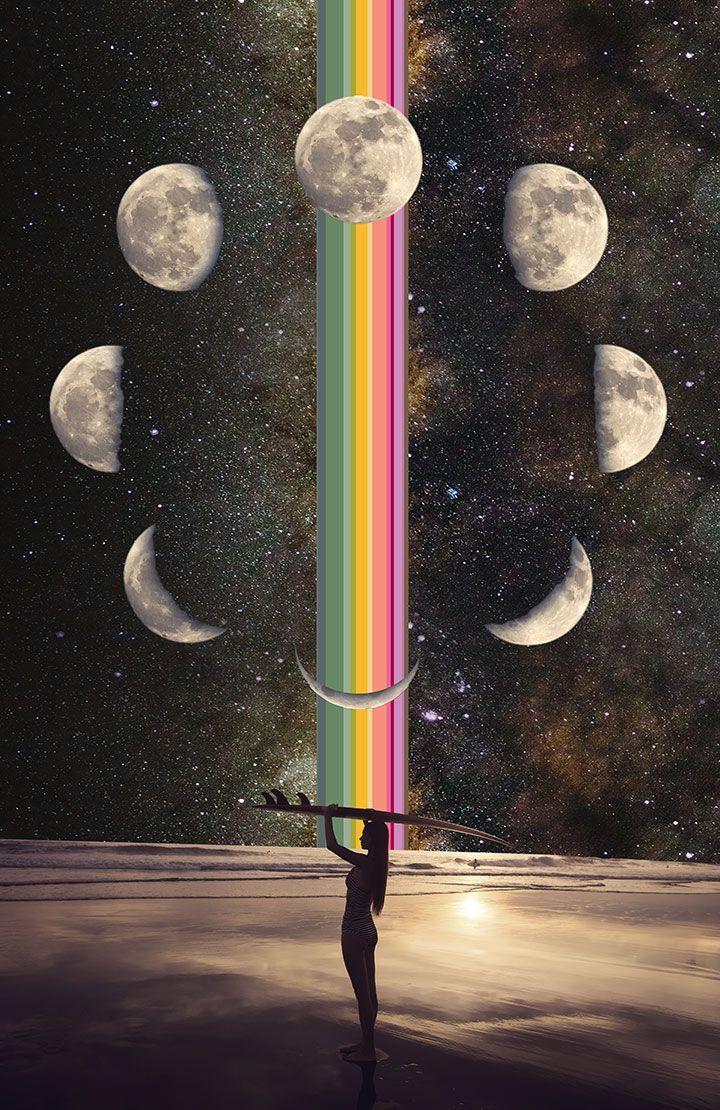 iPhone X Wallpaper 286119382559924525 HD Moon phases art