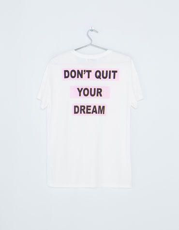 609493b206 Bershka Portugal -T-shirt Bershka I M A DREAMER