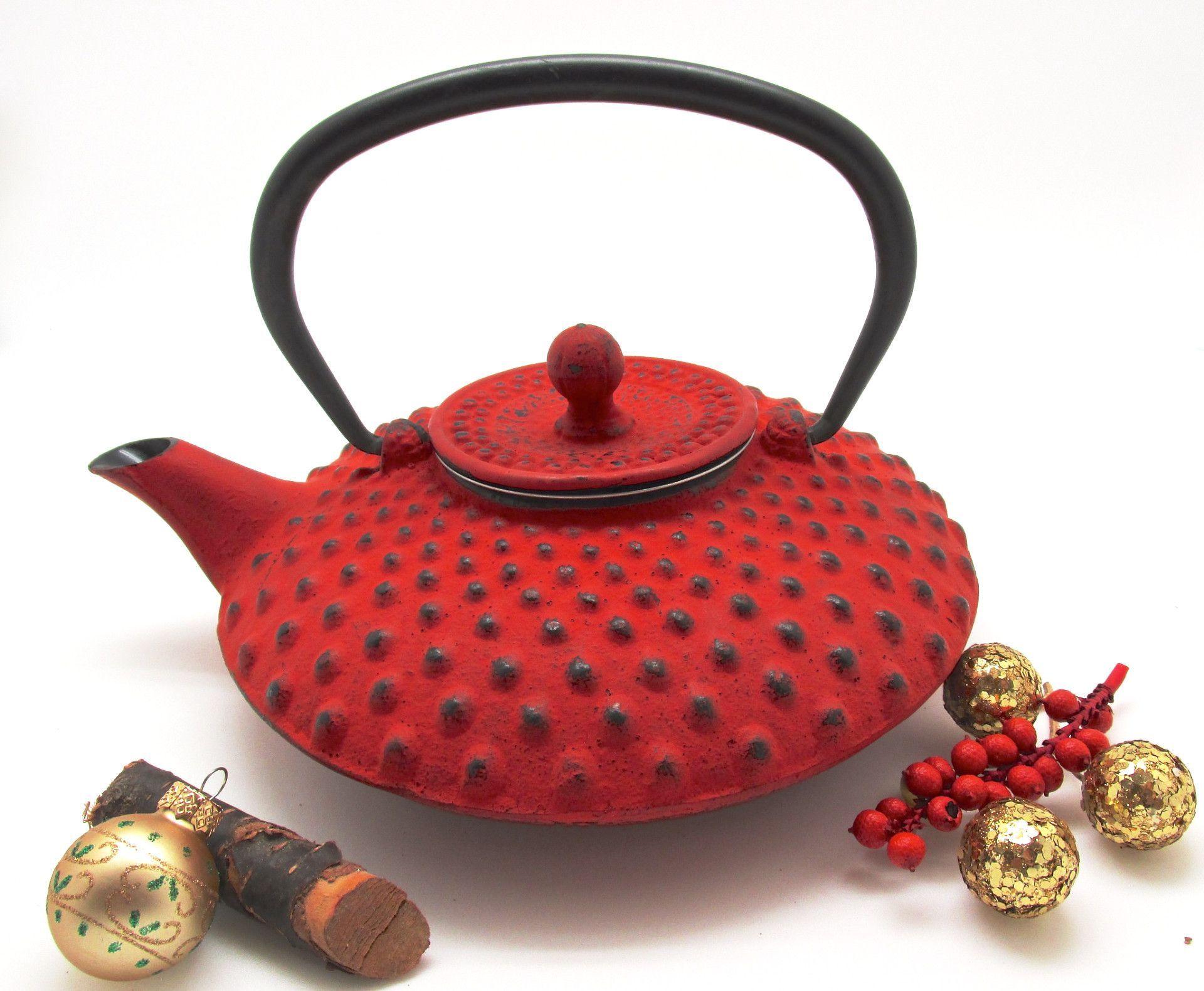 shimizu cast iron tea pot with infuser red tea pots teas and iron